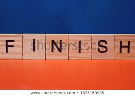 alfabe · ahşap · oyun · yazım · son · kelime - stok fotoğraf © lunamarina