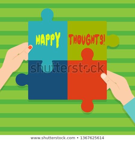 Joy Puzzle Shows Cheerful Joyful And Enjoy Stock photo © stuartmiles