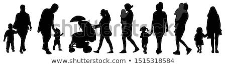 Childrens Silhouettes Stock photo © derocz