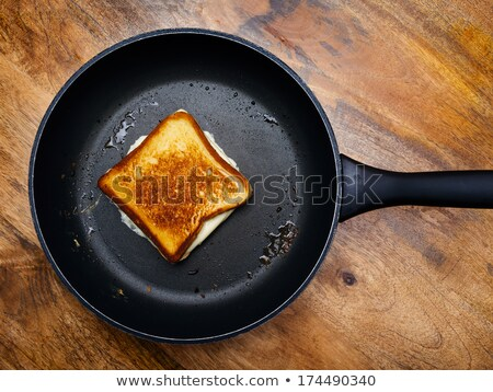 Grilled cheese sandwich on skillet Stock photo © sumners