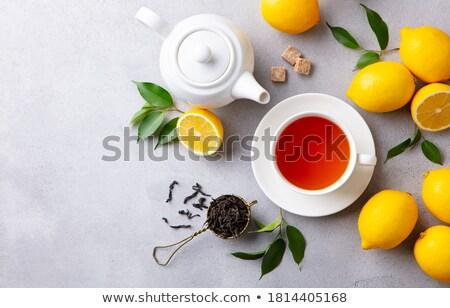 Tavolo da cucina cucina tavola tè Cup Foto d'archivio © Kurhan