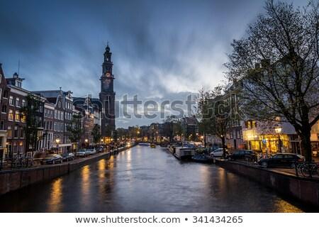 Distrito Amsterdam canal famoso agua calle Foto stock © joyr