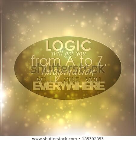 Verbeelding logica business ontwerp schrijven tekst Stockfoto © maxmitzu