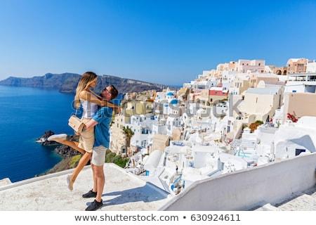 Para miesiąc miodowy miłości domu bed czerwony Zdjęcia stock © Nejron