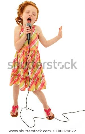 cantante · sexy · modelo · rojo · retro - foto stock © amok