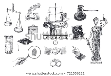 Scales of justice and handcuffs Stock photo © andromeda