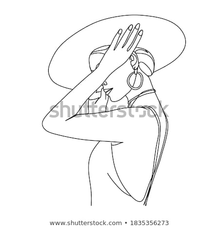 Stock photo: portrait woman in hat