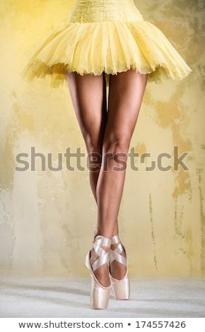genç · dansçı · kadın · sarı · elbise - stok fotoğraf © amok