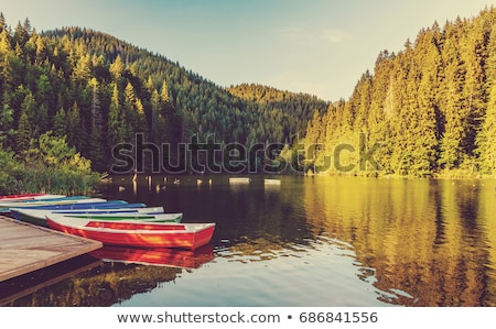 Boat and pond in the autumn forest   Stock photo © tannjuska