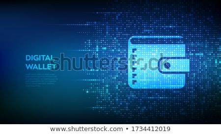 Moderne technologie iconen pictogrammen abstract netwerk Stockfoto © orson
