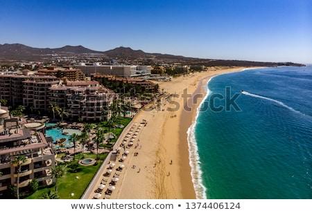 Strand bergen hemel zomer Blauw Stockfoto © tanya_ivanchuk
