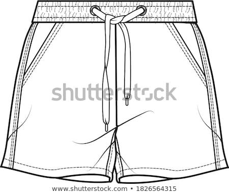 Shorts geïsoleerd witte mode mannen schone Stockfoto © gemenacom