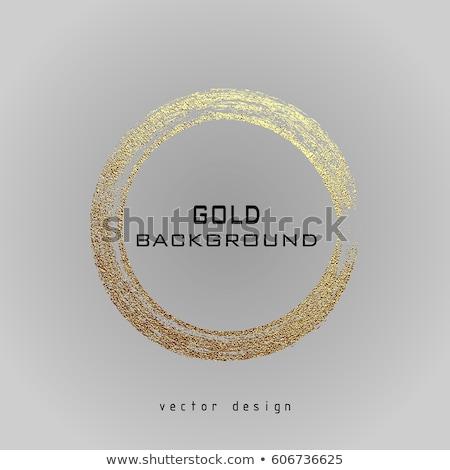 Dorado diseno elementos ilustración tecnología metal Foto stock © Wetzkaz