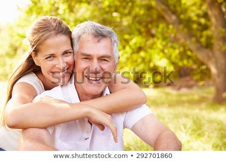 Ritratto sorridere senior uomo adulto figlia Foto d'archivio © HighwayStarz