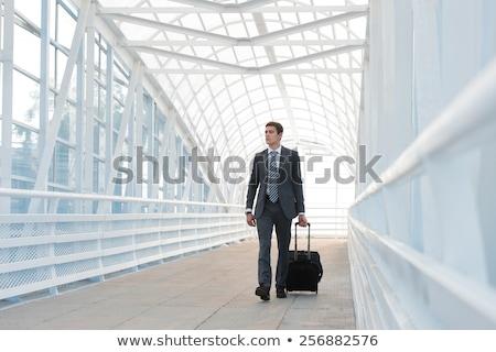 Foto stock: Empresario · caminando · urbanas · medio · ambiente · aeropuerto · oficina