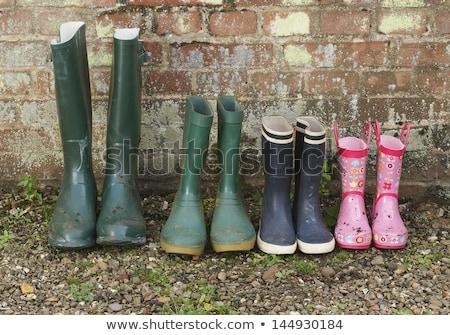 pink rubber knee-boots Stock photo © konturvid
