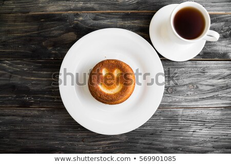 smiley biscuits on a wooden rustic table Stock photo © nito