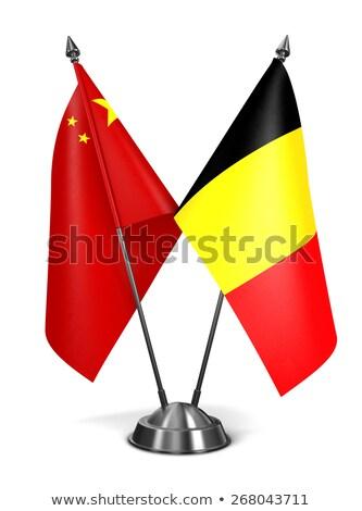 China Bélgica miniatura bandeiras isolado branco Foto stock © tashatuvango