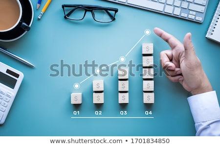 Dollar gevolg teken elektronische calculator financieren Stockfoto © fuzzbones0