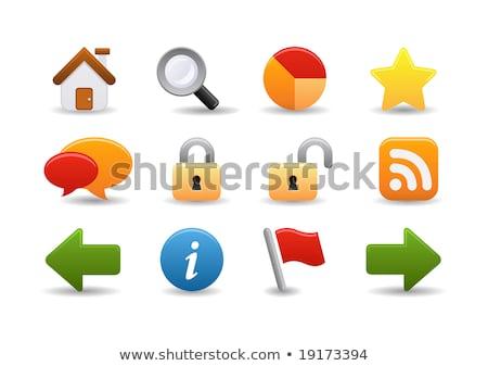 Unlock Yellow Vector Icon Button Stock photo © rizwanali3d