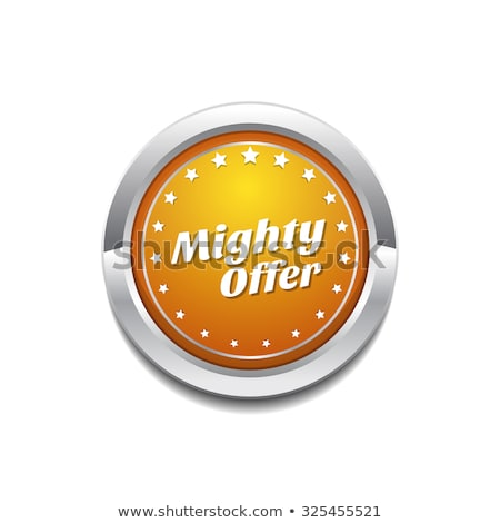 Mighty Offer Yellow Vector Icon Button Stock photo © rizwanali3d