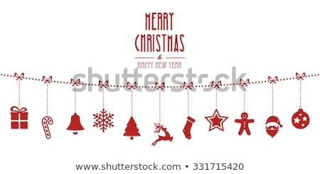 Natal rena flocos de neve moda abstrato Foto stock © BlueLela