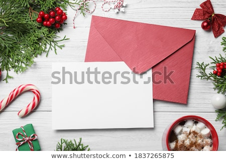 Carte vierge café table en bois papier tasse carte Photo stock © cherezoff