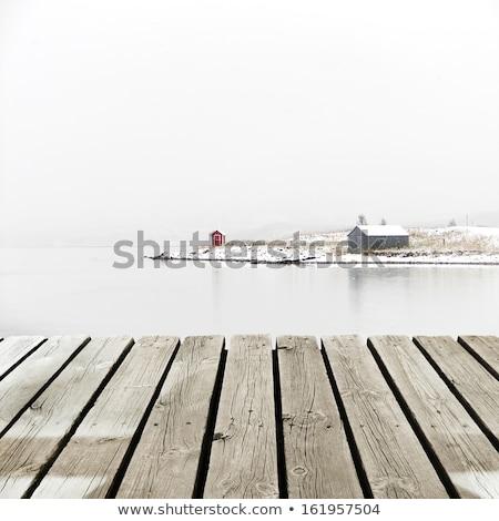 zimą · jezioro · dekoracje · Finlandia · wieczór · wygaśnięcia - zdjęcia stock © juhku