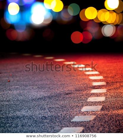Lucido colorato strada indietro luce caduta Foto d'archivio © olandsfokus