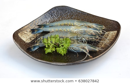 Raw Giant Prawns Stock photo © dirkr