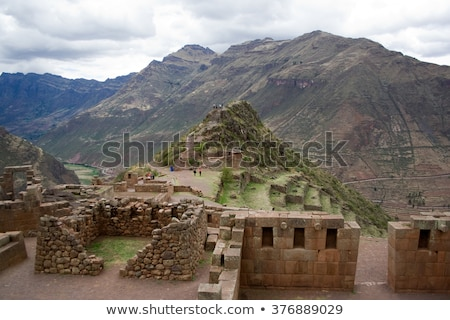 Eski tarım vadi Peru güney amerika Stok fotoğraf © alexmillos