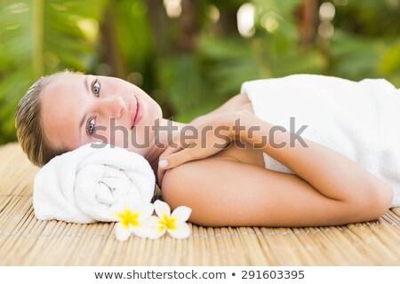 Pacífico toalla spa hotel spa Foto stock © wavebreak_media