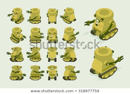 Military tank Flat Design Background Stock photo © robuart