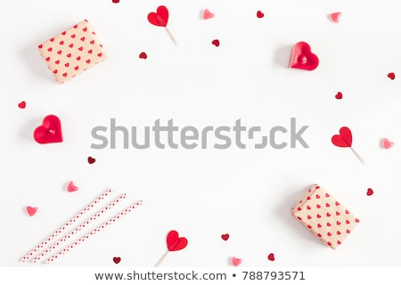 Valentines Day shapes made from gift boxes Stock photo © ozgur