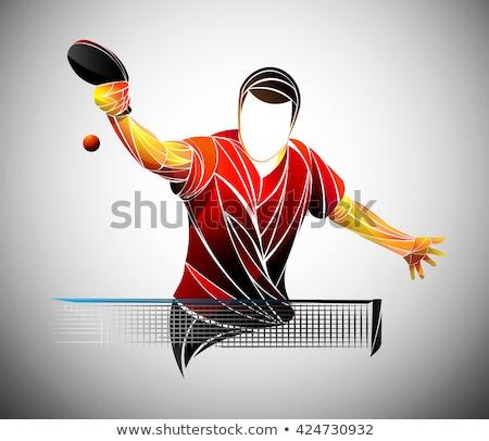 настольный теннис набор оборудование иллюстрация человека Сток-фото © bluering