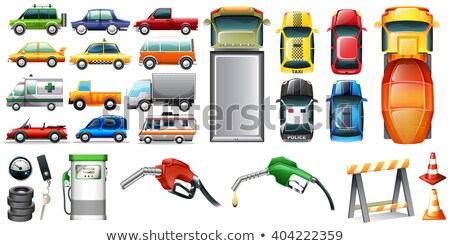 Different kind of automotives and petrol Stock photo © bluering