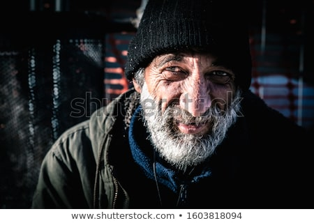 close up of addict man on street Stock photo © dolgachov