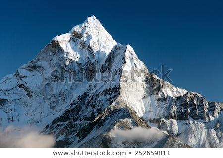 Scene with snow on mountain peaks Stock photo © bluering