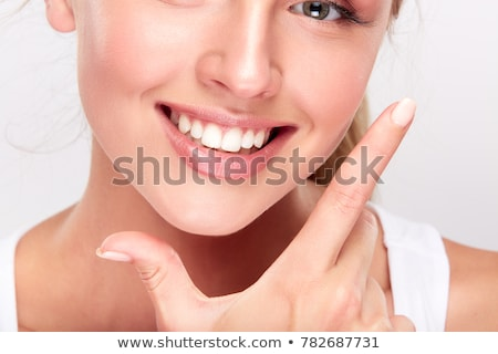 白 歯 美しい 健康 歯科 実例 ストックフォト © Tefi