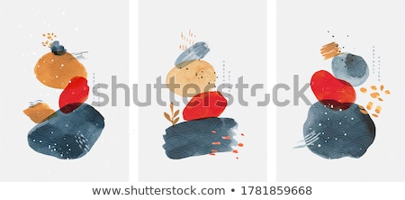 blue abstract watercolor stain background design Stock photo © SArts