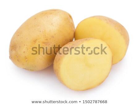 Inteiro batata metade um branco Foto stock © Digifoodstock