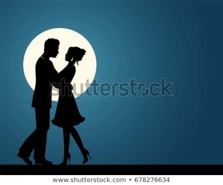 Dance światło księżyca ilustracja niebieski balet kobiet Zdjęcia stock © adrenalina