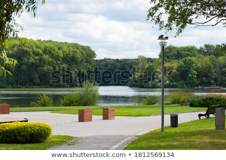 Stockfoto: Bank · water · natuur · zee · groene · ontspannen