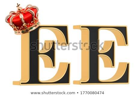 gemstones alphabet letter e isolated on white background stock photo © pashabo