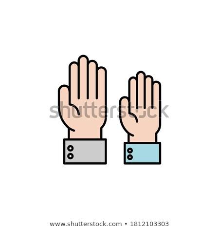 молодые деловой человек вызывать рукой знак Сток-фото © feedough