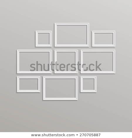 Fotolijstje sjabloon ingesteld vector geïsoleerd muur Stockfoto © pikepicture