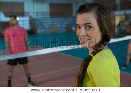 Portrait of female sportsperson playing volleyball Stock photo © wavebreak_media