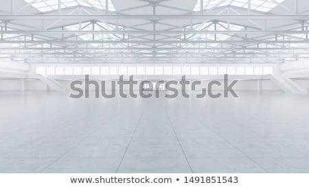 白 展示 スペース 現代 のような 博物館 ストックフォト © ssuaphoto