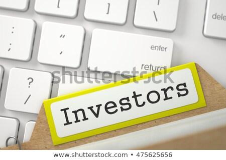 Card File Investors. 3D. Stock photo © tashatuvango