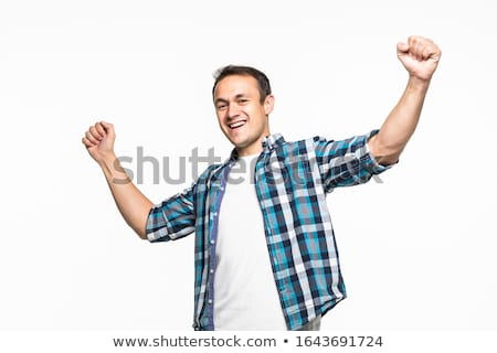 Businessman gesturing against white background Stock photo © wavebreak_media